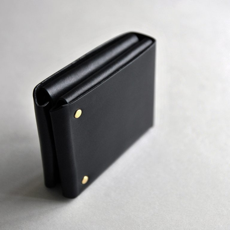 CUBE WALLET 方塊厚短夾・BLACK黑-封面- 本相造物所selfportrait