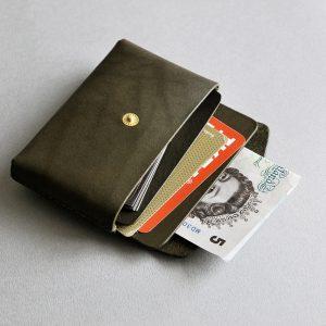 CARD HOLDER 合手名片夾・OLIVE GREEN橄欖綠-封面- 本相造物所selfportrait