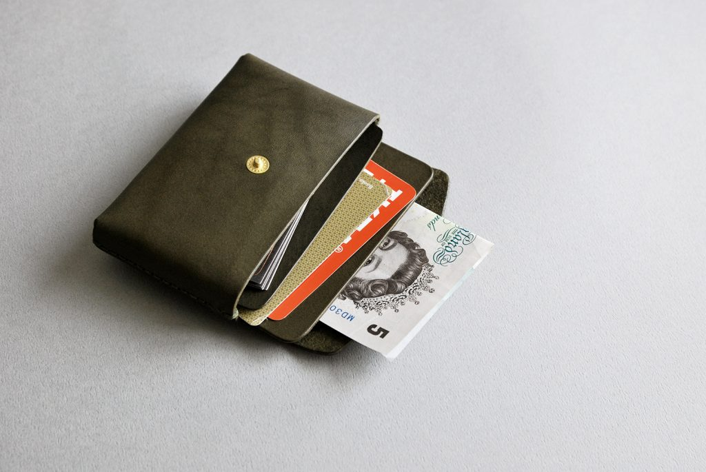 01CARD HOLDER 合手名片夾・OLIVE GREEN橄欖綠-本相造物所selfportrait