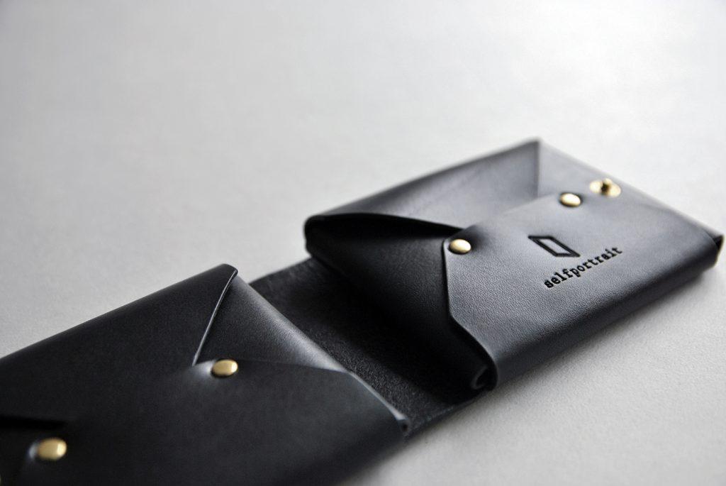 04CUBE WALLET 方塊厚短夾・BLACK黑-本相造物所selfportrait
